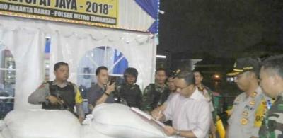 Gubernur DKI Jakarta dan Dandim 0503/JB Kunjungi Pos Pam Ops Kota Tua Taman Sari Jakarta Barat