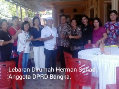 Lebaran di Rumah Herman Suhadi Anggota DPRD Bangka