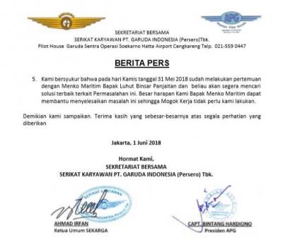 Jatuhnya Saham GIAA dan Rencana Mogok Pilot Garuda Indonesia