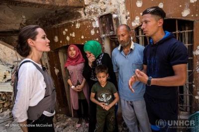 Arti di Balik Kunjungan Angelina Jolie ke Mosul, Irak
