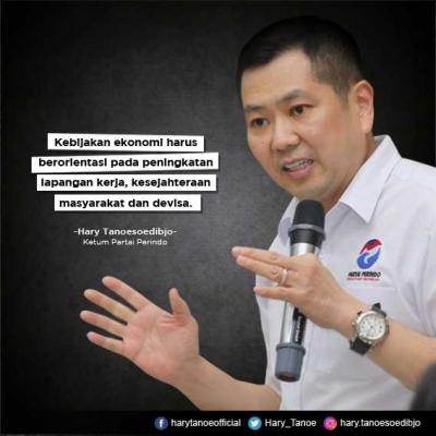 Ketum Perindo Hary Tanoe: Kebijakan Ekonomi Berorientasi pada Peningkatan Lapangan Kerja, Kesejahteraan dan Devisa