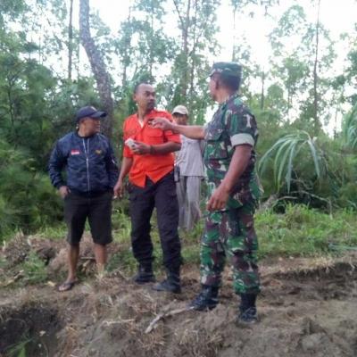 Pasca-Longsor Hutan Krisik, Koramil 0802/21 Pundak Pantau Kondisi Pergerakan Tanah