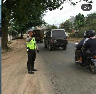 Antisipasi Kemacetan dan Laka, Polisi di Banyuasin Giat