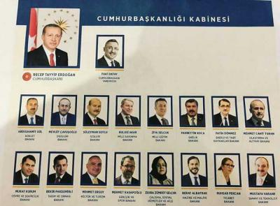 Inilah Kabinet Terbaru Erdogan