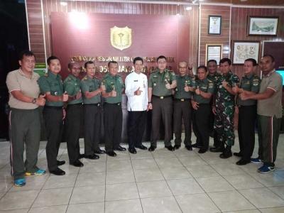 Pererat Sinergitas Tiga Pilar, Walikota Jakarta Barat Kunjungi Makodim 0503/JB