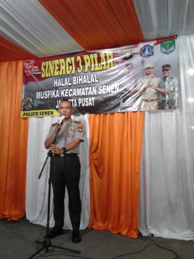 Polsek Senen Adakan Halal Bihalal dan Resmikan Posko Terpadu