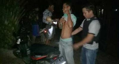 Antisipasi Kamtibmas, Polsek Pangkalan Balai Periksa Kumpulan Pemuda