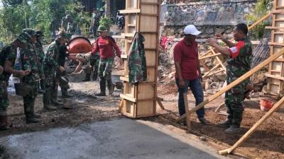 Satgas TMMD Ke-102 Mojokerto Kebut Pembangunan Balai Desa Jembul