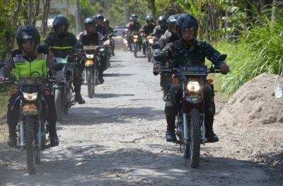Hadirkan Rasa Aman, Dandim 0802 dan Kapolres Ponorogo Pimpin Patroli Bermotor