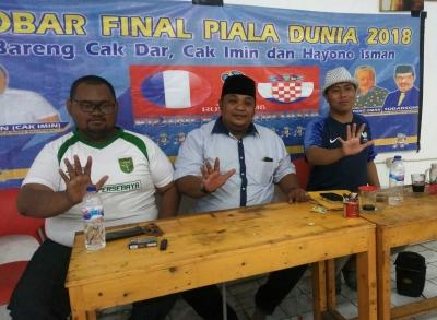 Berdayakan Ratusan Pemuda, Nobar Final Piala Dunia 2018 sebagai Wahana Silaturahmi