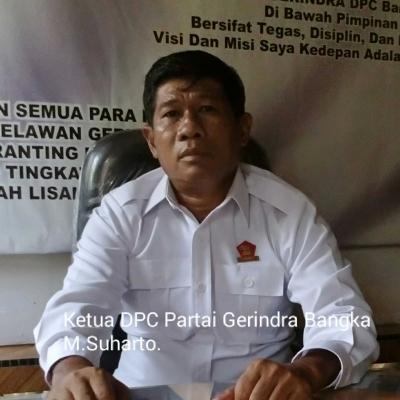 Ketua Gerindra Bangka, Beberkan Kadernya yang Gagal Nyaleg