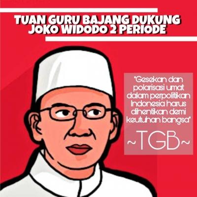 TGB Zainul Majdi Konsisten Dukung Presiden Jokowi Sejak 2016