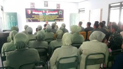 Jalin Silaturahmi, Dandim 0806/Trenggalek Kunjungan Kerja di Koramil 0806/11 Panggul