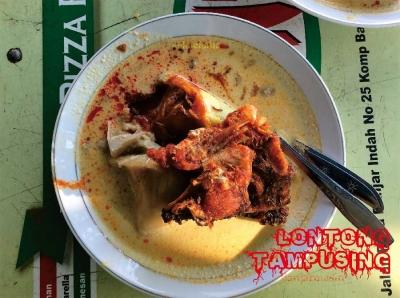 Sarapan Lontong Tampusing Ma Haji, Kuliner
