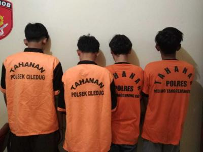 Ancam Warga Dengan Sajam, 4 Pelaku Kejahatan Berhasil di Ringkus Polsek Ciledug