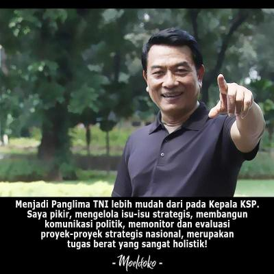Moeldoko: Lebih Mudah Jadi Panglima TNI