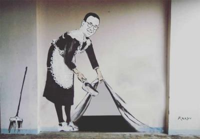 Jejak Banksy di Balik Mural Anies Baswedan dengan Kali Itemnya