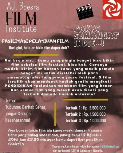 Festival Film Indie akan Digelar di Surabaya
