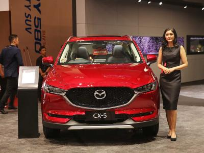 Mencoba Mazda CX-5 di GIIAS 2018