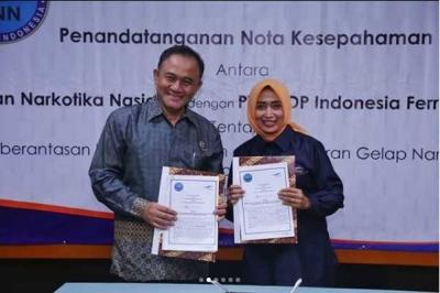 BNN dan ASDP Siap Jaga Perairan Indonesia dari Peredaran Gepap Narkoba