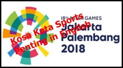 Kosakata Sports Penting in English