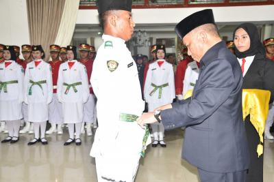 Bupati Kukuhkan Paskibraka Kabupaten Bangka