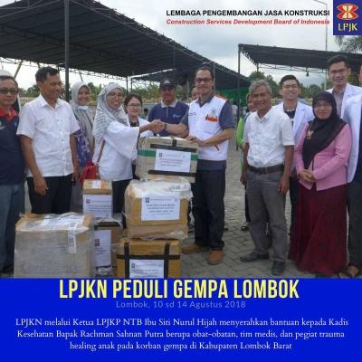 LPJK Kirim Bantuan Medis untuk 1000 Korban Gempa Lombok