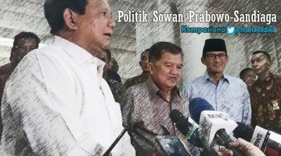 Ini Tujuan Politik Sowan Prabowo-Sandiaga ke Jusuf Kalla