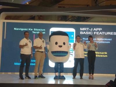 MRT Jakarta Memperkenalkan Maskot dan Aplikasi MRT-J