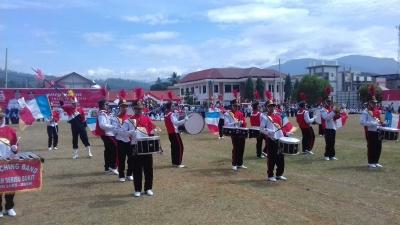 Marching Band SMAN Seribu Bukit Meriahkan HUT RI ke 73 Gayo Lues