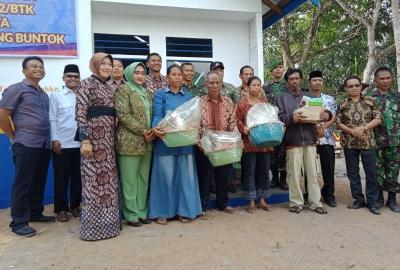 Lagi, Kodim 1012 Buntok bersama Bank BRI Bantu Bedah Rumah Warga Kurang Mampu