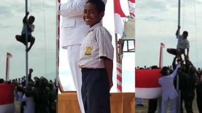 Joni dan Pesan Nasionalisme dari Tiang Bendera
