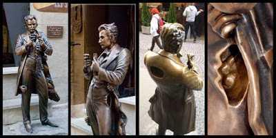 Patung Leopold Von Sacher Masoch di Lviv