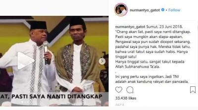 Gabung Tim Jokowi, Gatot Nurmantyo Hancurkan Masa Depan Sendiri
