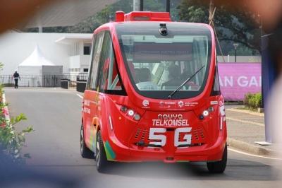Bus Tanpa Sopir Berseliweran di Asian Games 2018