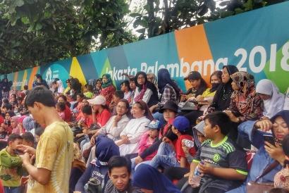 Gratis, Warga Tangerang Antusias Saksikan Modern Pentathlon Asian Games 2018