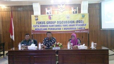 Dukung Keamanan Wilayah Menjelang Tahun Baru Islam, Kasdim 0815 Mojokerto Hadiri FGD