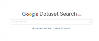Dataset Search (Beta) dari Google