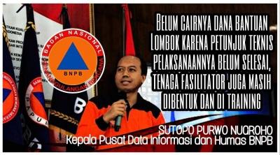 Dana Bantuan untuk Lombok Tidak Ditahan Pemerintahan Presiden Jokowi, Berikut Penjelasannya