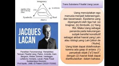 Tras Substansi Filsafat Uang Jacques Lacan