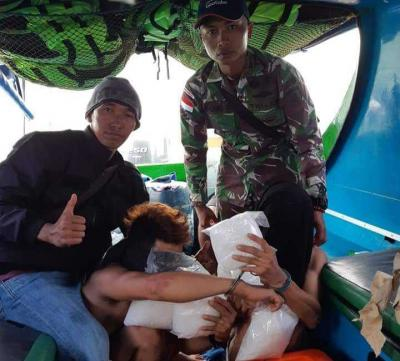 Satgas Pamtas Yonif Raider 613 Gagalkan Penyelundupan Sabu 5 Kg