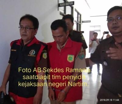Korupsi DD, Sekdes Ramania Ditahan Jaksa