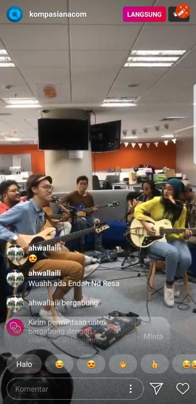 HEBOH: Endah N Rhesa Live Streaming di Instagram Kompasiana