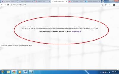 Portal Pendaftaran CPNS Tak Bisa Diakses