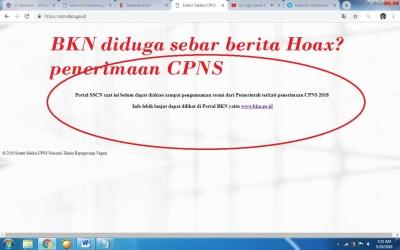 Portal Pendaftaran CPNS Tak Bisa Diakses, BKN Hoax?