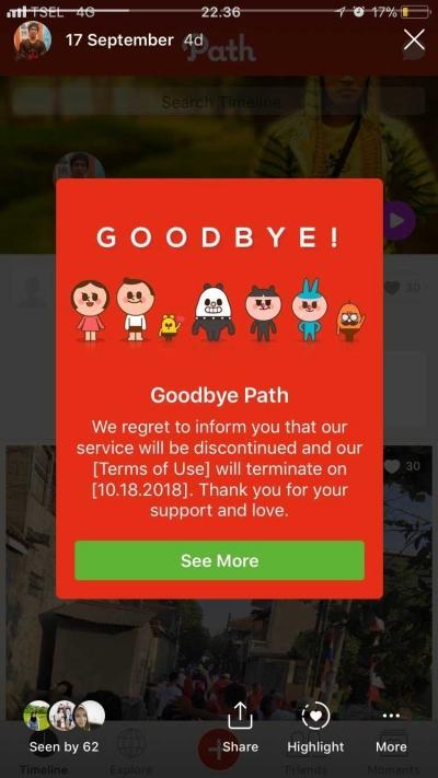 3 Hal yang Dilakukan Pengguna Path Saat Mengetahui Path akan Ditutup