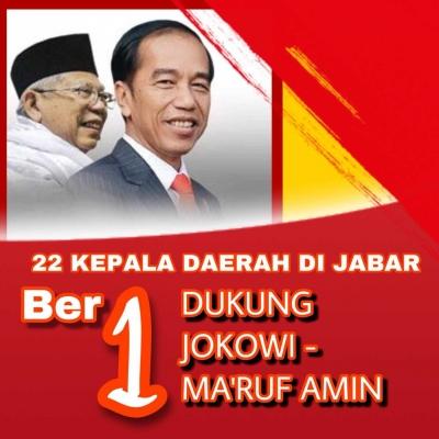 Dukungan Tak Terbendung, 22 Kepala Daerah di Jawa Barat Dukung Jokowi-Ma'ruf