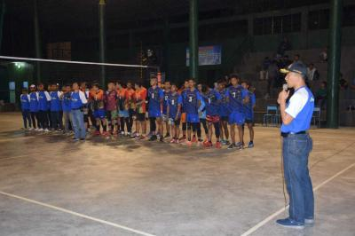 Dandim Trenggalek Hadiri Pembukaan Turnamen Bola Voly Galang Bintang Cup 2018