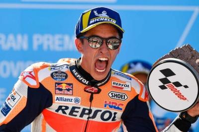 Menangi Duel dengan Dovizioso, Marquez Juara MotoGP Aragon