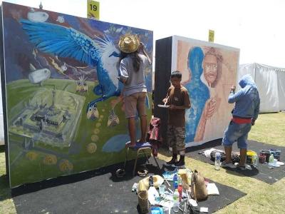 Membaca Mural Pesona Kota di Festival Pesona Lokal